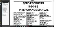 Ford Mercury Lincoln parts interchange manual 1950 - 1974 n illustration Catalog