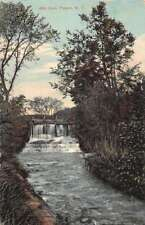 Poland New York Mill Dam Waterfront Antique Postcard K84731