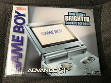 Nintendo Game Boy Advance GBA SP Pearl Blue AGS-101 Brighter Screen SEALED BOX
