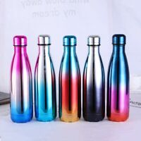 Stainless Steel Thermos Gradient Color Vacuum Water Bottle Flask Hot Cold Cup