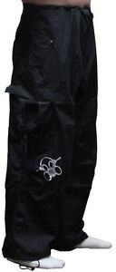 Ghast Clothing Brand Unisex Pants Rave Flare Bottom EDM Ultra Cargo Parachute