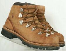 Vintage Vasque Brown Suede Vibram Mountaineering Hiking Boots Men's US 7 M