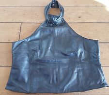 Real leather halterneck top