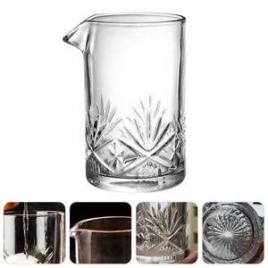 1Pc Glass Thickened Useful Bar Stirring Glass Cocktail Mixing Glasses for Home