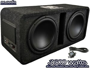 """OE AUDIO Twin 12"""" Amplified Subwoofer box 3600 watts extreme power!"""