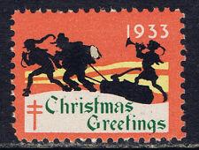 United States 1933(2) Christmas Seal - Christmas Greetings MNH