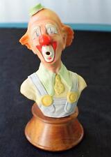 """Vtg 1979 Signed Numbered Edward Rohn Porcelain Surprised Clown 9"""" Bust Sculpture"""