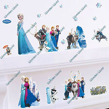DISNEY Frozen Wall Stickers Art Mural Decal Elsa Anna Olaf Hans Prince Nursery
