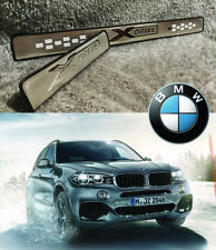 BMW X5 F15 E70 XDrive STAINLESS DOOR SILL SCUFF PLATE GUARD TRIMS PROTECTOR 4PCS