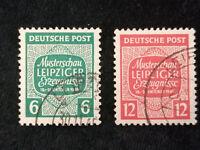 Deutschland Alliierte Besetzung 1945 - MiNr.124x -125 x, Musterschau Leipzig