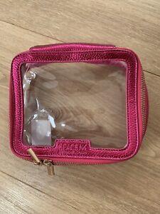 Space NK Pink Metallic Makeup Travel Bag