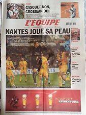 L'Equipe Journal 28/5/2005; Nantes joue sa peau/ Gasquet non, Grosjean oui