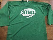 Ushl Chicago Steel Practice Jersey Xl Green Mint Vintage