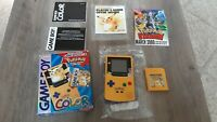 Nintendo GameBoy Color Pikachu edition Pokemon Yellow Version w/ box CIB