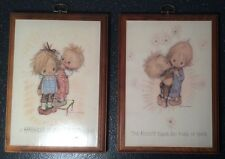 Vintage Placards Springbok Betsey Clark Wall Decor Hallmark Like Precious Moment