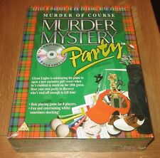 MURDER MYSTERY PARTY ( MURDER OF COURSE - DVD & CD EDITION ) NEW & SEALED!!!