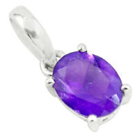 black friday sale 3.03cts natural purple amethyst silver pendant jewelry p62410