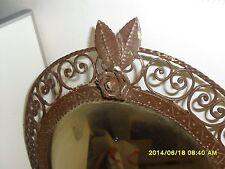 Splendida Antica cornice specchiera  Liberty ferro battuto artigianale primi 900