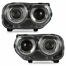 LED Projector Headlights with DRL Dual Beam for 2015-2020 Dodge Challenger