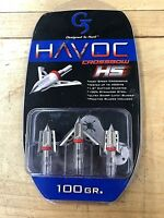 """G5 Havoc Crossbow HS 100 gr. 1.5"""" cutting diameter Practice Blades Included"""