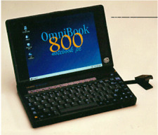 HP OmniBook 800CS Vintage Mini Laptop Notebook SCSI Windows 95 800