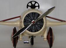 Air Plane Pedal Car Chrome Propeller WW1 Vintage Airplane Midget Metal Model