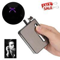 Pocket Case Cigarette Tobacco Box Holder 20 pcs Slim Storage USB Container