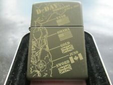 "ZIPPO / THE AMASING RARE "" D- DAY LANDINGS "" IN FANTASTIC  DETAIL  / MINT IN TIN"