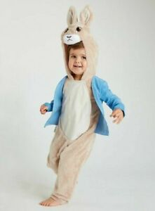 Boys Peter Rabbit  Fancy Dress Costume All in one Complete Outfit  2-7 Years