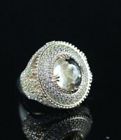 925 Sterling Silver Handmade Authentic Turkish Quartz Ladies Ring Size 7-10