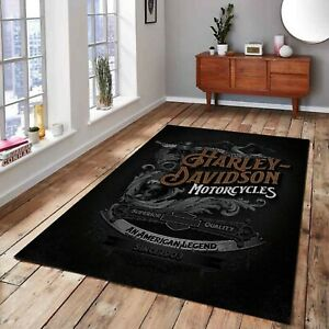 Harley Davidson 61, Fan Carpet, NonSlip Floor Carpet,Teen's Rug,Area Rug,