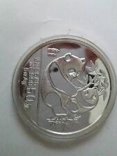 1989 china 5oz panda silver coin