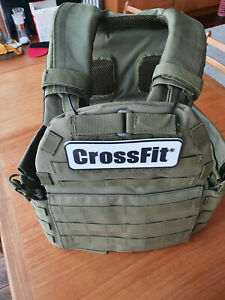 Crossfit Weighted Vest, Green, One Size w/ 3 x Various Plates