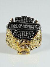 Stainless Steel Harley Davidson Golden Eagle Ring Size 12
