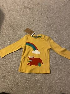 Frugi Little Discovery Cow Top 6-12 Months BNWT