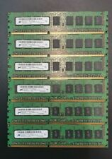 Micron 24GB (6x4GB) 2Rx8 PC3 10600E RAM 1111 Matching Set