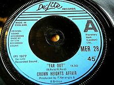 """CROWN HEIGHTS AFFAIR - FAR OUT / YOU'VE BEEN GONE  7"""" VINYL"""