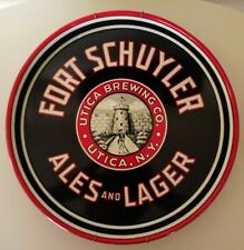 1930s FORT SCHUYLER Ales and Lager Beer Tray Utica NY Utica Brewing Company