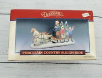 VTG Lemax Dickensvale Horse and Sleigh Christmas Village Sleigh and Tree In Box