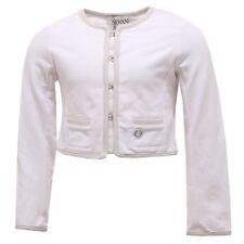 1625T giacca bimba ARMANI JUNIOR cotone garzato bianco jacket kid