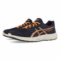 Asics Boys Stormer 2 GS Running Shoes Trainers Sneakers Navy Blue Orange Sports