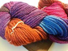 """Single Skeins Araucania /""""Unan/"""" Hand Painted Cotton-Alpaca Yarn #5 Paso Colorado"""