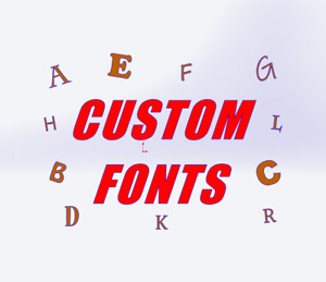 Custom Wooden Letters From 3cm to 40cm High (3mm Thick MDF) Wall Sign Shop Decor