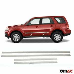 For Mazda Tribute 2008-2011 Chrome Side Door Trim Cover Stainless Steel 4 Pcs