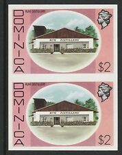Dominica (S102) 1975 definitives $2 Rum Distillery  IMPERFORATE PAIR  unmounted