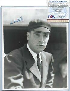 Al Barlick Autographed George Brace 8x10 Photo Hall of Fame Baseball Umpire