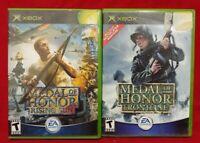 Medal of Honor Frontline + Rising Sun MOH -  MicroSoft XBOX OG 2 Game War Lot