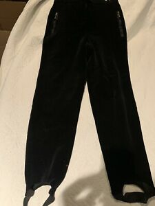ESCADA BY MARGARETHA LEY VELVET PANTS, BLACK WOMEN'S EUR SIZE 40