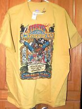 DISNEY WORLD PIRATES OF THE CARIBBEAN POSTER SERIES EXCLUSIVE T-SHIRT LARGE NWT
