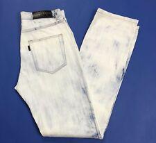 Massimo rebecchi tom jeans uomo usato W33 tg 46 47 bi colore slim bianco T2946